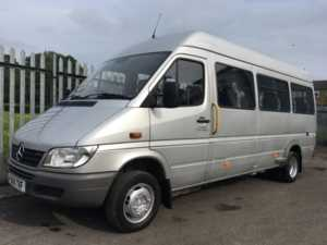 2006 55 Mercedes Sprinter 411 CDi XLWB 15 Seat Wheelchair Accessible Minicoach 4 Doors Minibus