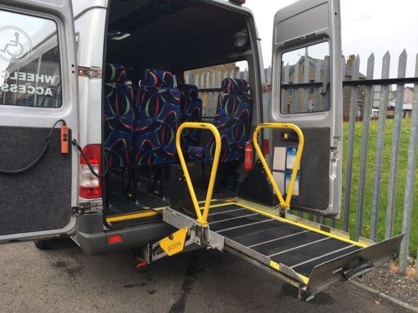 2006 (55) Mercedes Sprinter 411 CDi XLWB 15 Seat Wheelchair Accessible Minicoach For Sale In Colne, Lancashire