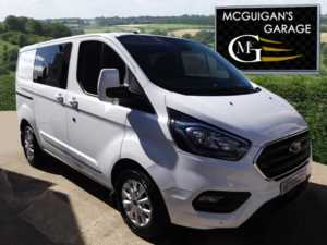 2018 (18) Ford Transit Custom 300 Limited , Double Cab In Van , L1 H1 , TDCi 130ps For Sale In Swatragh, County Derry